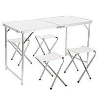 Набор стол складной+4 стула для пикника, фото 1