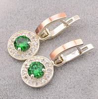 Серебряные серьги с золотыми пластинами и большими камнями – королевская роскошь