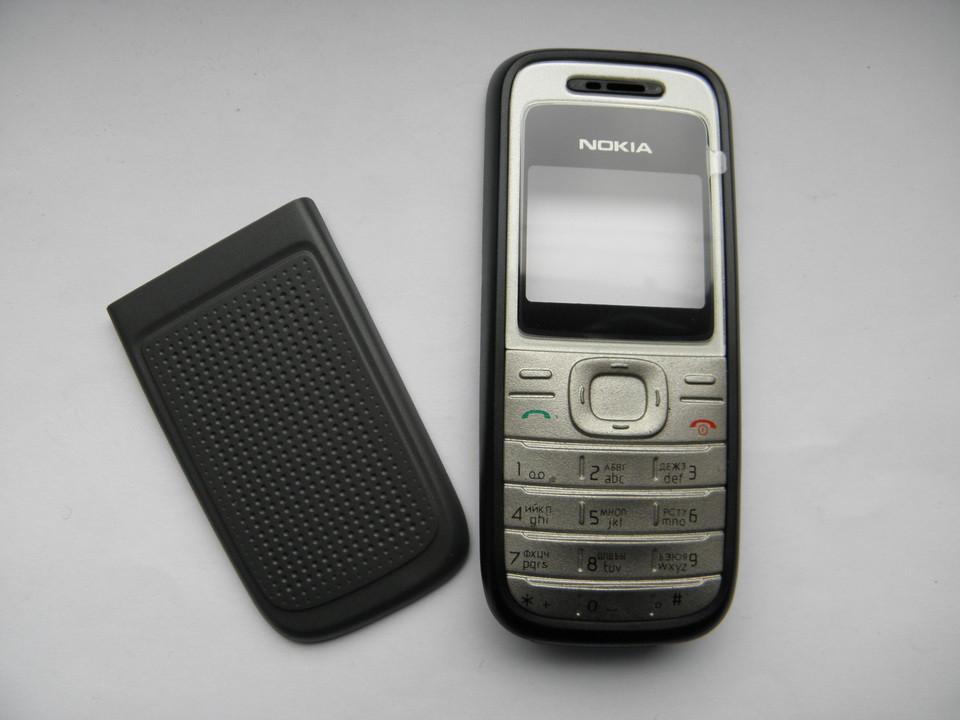 Корпус Nokia 1200, 1208 серый с клавиатурой class AAA