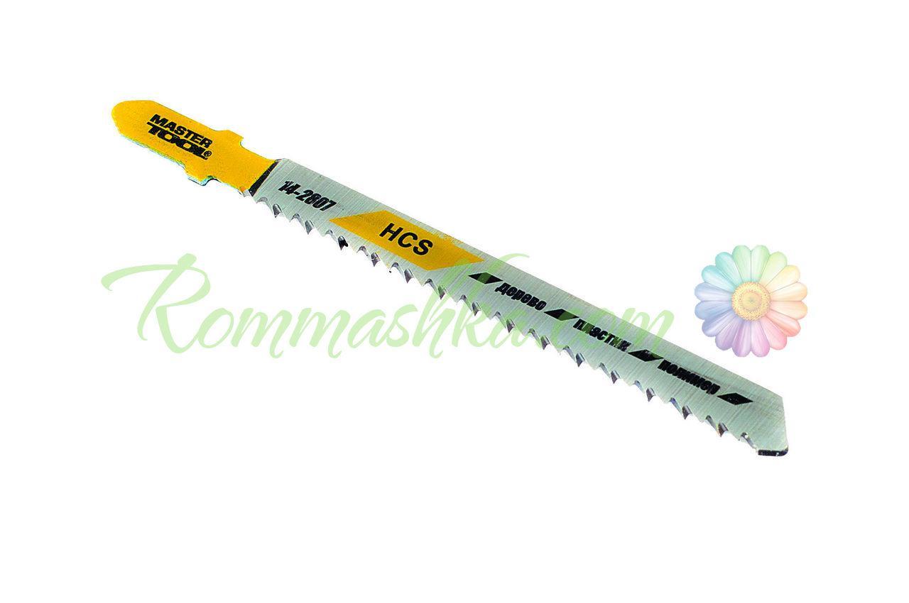 Полотно пильное для лобзика Mastertool - 76 х 2,5 мм, (реверс) дерево-пластик (5 шт.)