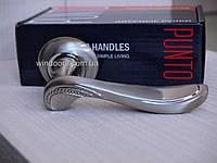 Ручка дверная на раздельном основании Punto - Arfa TL SN/CP-3 (матовый никель-хром), фото 1