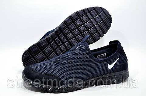 a53c9c7d406b Мужские летние кроссовки в стиле Найк Free Run 3.0 Slip On, Синие ...