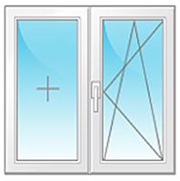 Окно Veka Euroline 1350\1450мм с одной створкой
