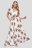 Нежное платье в пол для полных девушек Алена