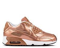 "Кроссовки женские  Nike Air Max 90 SE Leather GS ""Metalic Red Bronze"" (в стиле найк аир макс)"