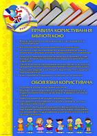 "Стенды для школьной БИБЛИОТЕКИ ""Правила користування"" , фото 1"