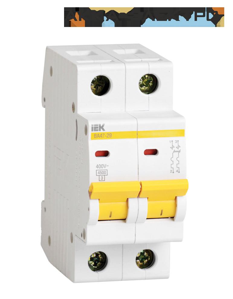 Автоматичний вимикач ВА47-29 2P 25A IEK