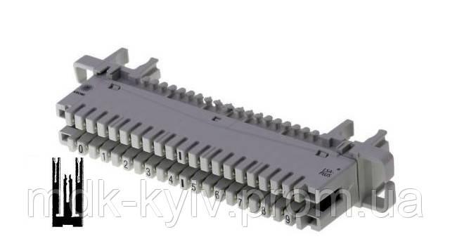 Плинт LSA-PROFIL 2/10 с неразмыкаемыми контактами, маркировка пар 0...9, 6089 1 120-06 KRONE, Германия