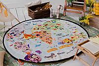 """Обучаюший коврик мешок """"Карта мира"""". Для игры дома и на природе. Из мебельных тканей"""