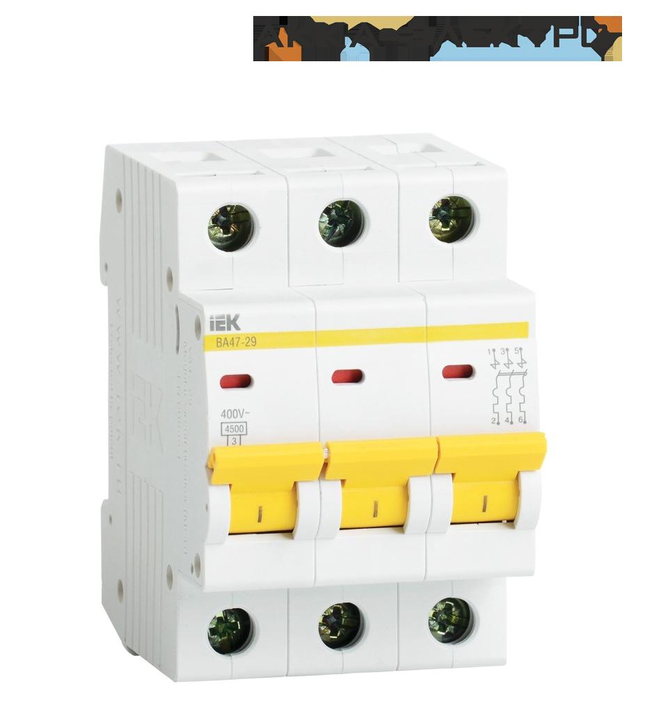 Автоматический выключатель ВА47-29 3P 32A  IEK