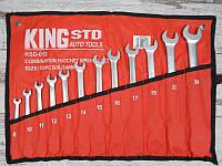 Набор ключей комбинированных с трещоткой 12 предметов, 8-24 мм. 6700 KingRoy