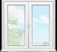 Окно Veka Euroline 1350\1450мм с двумя створками
