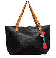 Женская вместительная сумка P005 (черная)