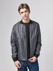 Мужская весенняя куртка бомбер серый Б1