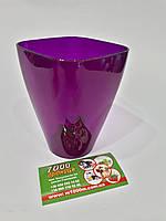 Орхидейница Квадрат ДП под миди, 9см Фиолетовая