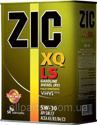 Моторное масло Zic XQ LS 5W-30 (Канистра 4литра) низкозольное (бензин + дизель)