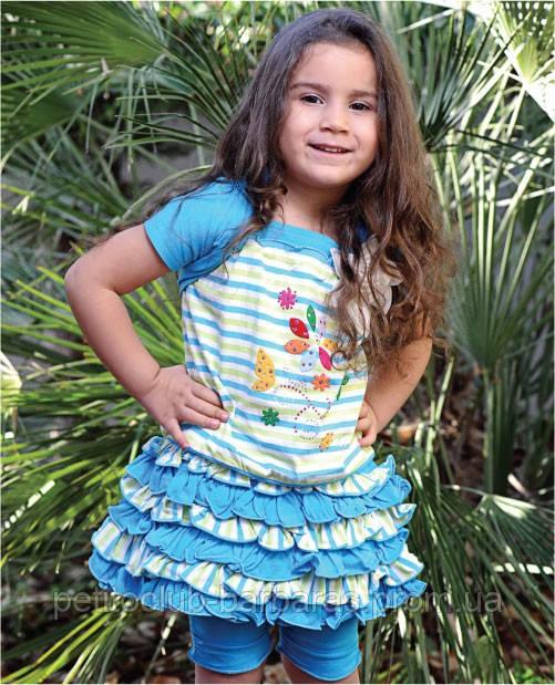 Комплект для девочки Изабелла голубой (Petito Club, Турция)