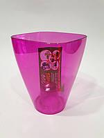 Орхидейница Квадрат ДП под миди, 9см Розовый