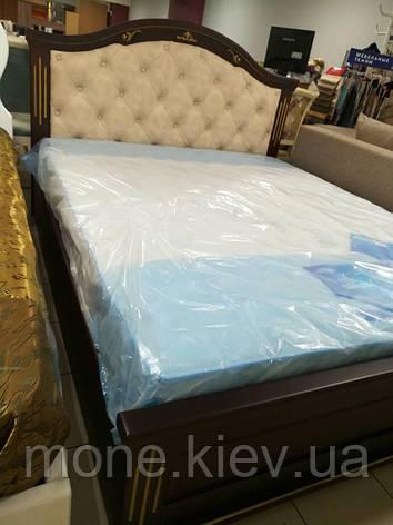 """Кровать деревянная с мягким изголовьем """"Клеопатра"""" , фото 2"""