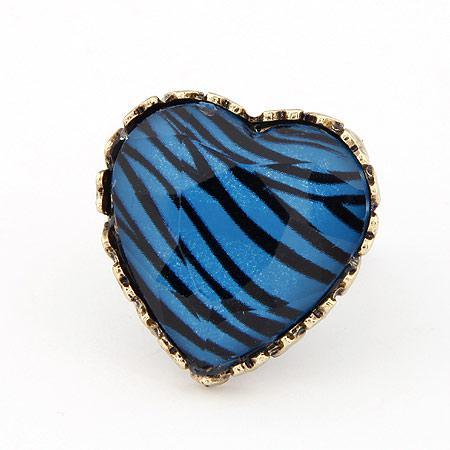 Кольцо Сердце зебра K001426