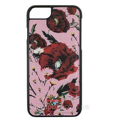 Чехол накладка для iPhone 7/8 розовый мак