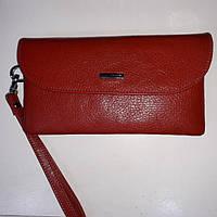 Кожаный темно-красный кошелек KARYA, фото 1