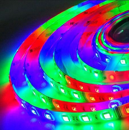 Світлодіодна стрічка LED вологозахищена, 24V, SMD5050, IP65, 60 д/м, RGB
