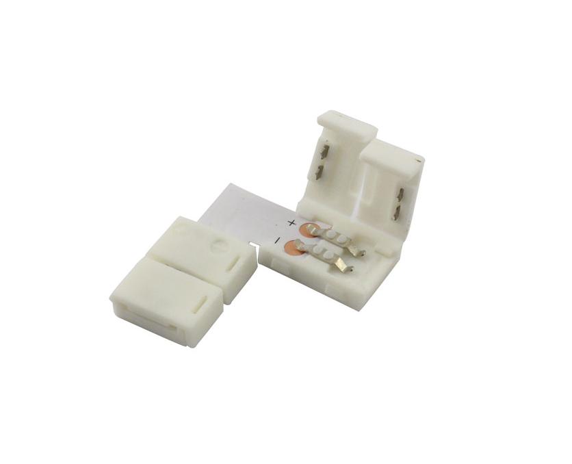 L-коннектор 2-pin 10 мм для LED-стрічки