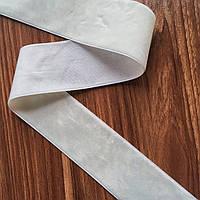 Бархатная лента 4 см (Цвет белый ) ЦЕНА ЗА МЕТР