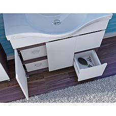 Тумба под раковину для ванной комнаты Моника Нова М5-100-белый с умывальником Витториа 100 Ювента, фото 3