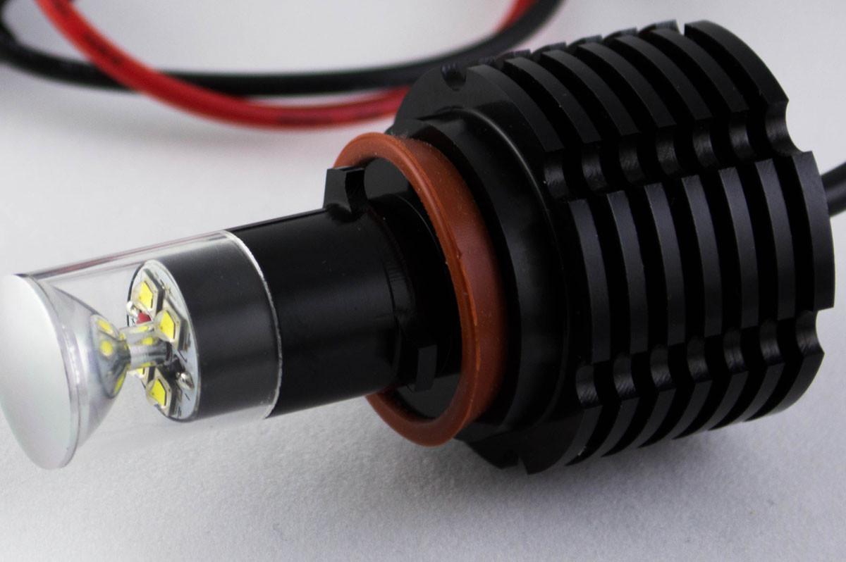 Автомобильная лампа в противотуманные фонари с цоколем H11/H8 Cree 20W 10-30V 1200 люменов Белый