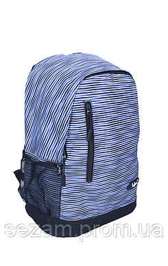 Ранець-рюкзак, 1 відд., 43*30*18см,300D PL, сір-фіол.,97019, SAF