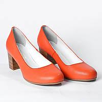 Туфли на каблуке оранжевые