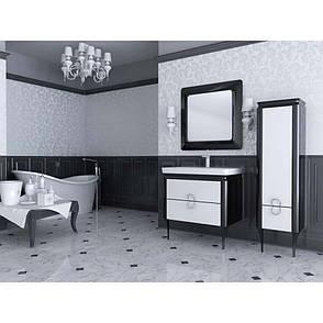Зеркало для ванной комнаты Тичино TcM-80-black Ювента, фото 2