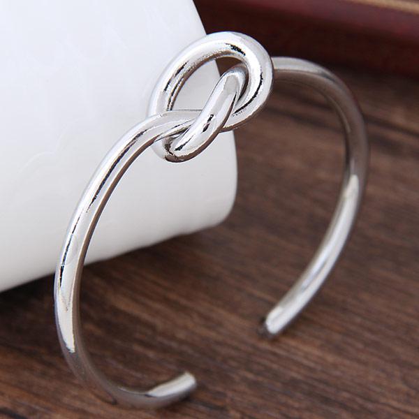 Браслет морской узел бижутерия под серебро B007596