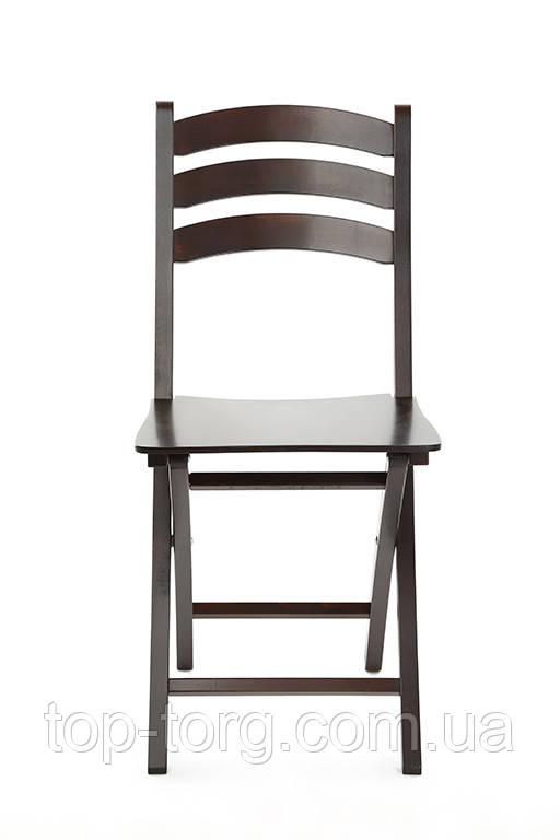 Розкладний стілець Silla Сілла в кольорі темний венге wenge дерев'яні складані стільці