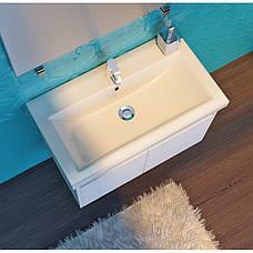 Тумба под раковину для ванной комнаты Равенна Rv-80-brown с умывальником Комо 80 Ювента, фото 2
