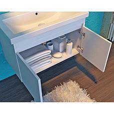 Тумба под раковину для ванной комнаты Равенна Rv-80-brown с умывальником Комо 80 Ювента, фото 3