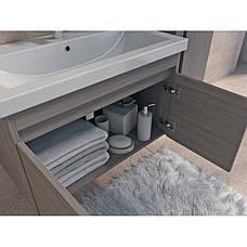 Тумба под раковину для ванной комнаты Равенна Rv-60-brown с умывальником Комо 60 Ювента, фото 2