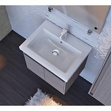 Тумба под раковину для ванной комнаты Равенна Rv-60-brown с умывальником Комо 60 Ювента, фото 3