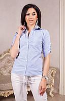 Рубашка женская в полоску , фото 1