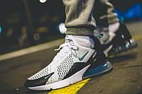 Мужские кроссовки Nike Air Max 270 Flyknit White/Black/Blue