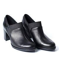 Туфли черные каблук, фото 1