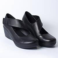 Туфли черные на липучке, фото 1