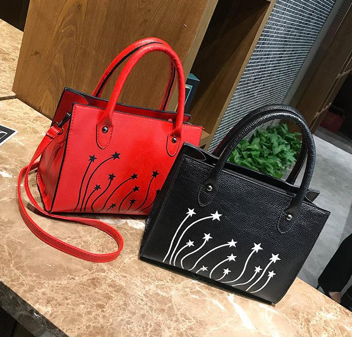 Стильная женская сумка со звездами