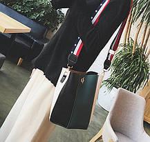 Модная сумка мешок с клатчем и красочным поясом, фото 3