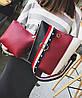 Модная сумка мешок с клатчем и красочным поясом, фото 2