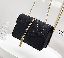 Элегантная сумка клатч с блестками и звездами, фото 2