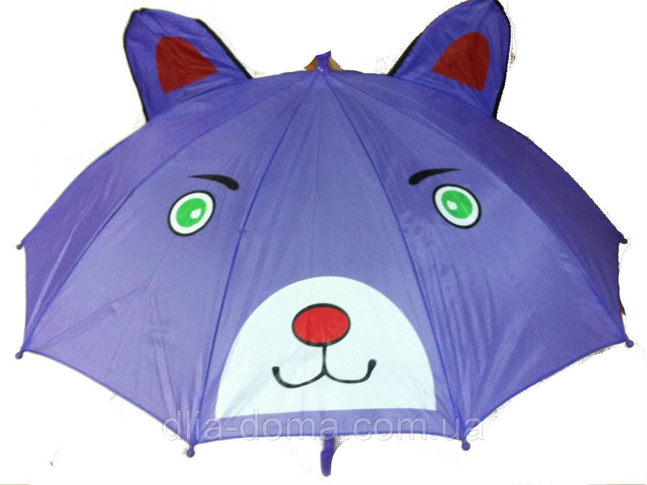 Зонт детский Зверята, диаметр 100