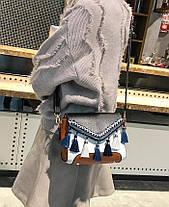 Милая женская сумка сундук с бубончиками , фото 3